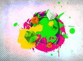 Indian colorful festival Holi celebration background with colors splash. EPS 10.