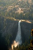 pic of hang-gliding  - Hang-Gliding over valley Nevada Fall Glacier Point Yosemite Valley Yosemite National Park California USA