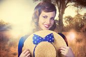 Vintage Portrait Of A Country Pinup Girl