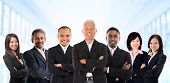 stock photo of indian chief  - Asian business team in multiracial - JPG
