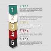Arrows steps design template. Fully editable vector.
