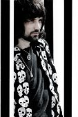 PARIS, FRANCE - APRIL 25, 2008: Portrait of the british rock group Kasabian's lead guitar and back u