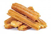 stock photo of churros  - a pile of porras - JPG