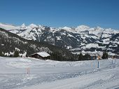 image of saanen  - View from the Eggli ski area in Gstaad - JPG