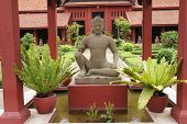 foto of budha  - Budha in the restful garden of the Royal Palace - JPG