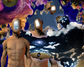 stock photo of dadaism  - Surreal Abstract with human elements - JPG