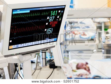 Patients monitor in neonatal intensive care unit