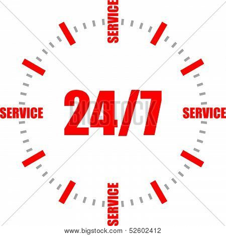24/7 all-day customer service