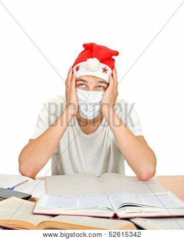 Sick Student In Santas Hat