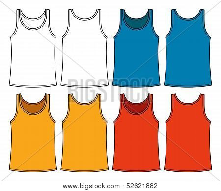 Singlets Template - Front And Back
