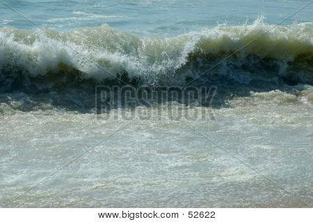 Waves At High Tide In Montauk