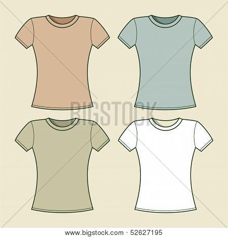 Women t-shirts template