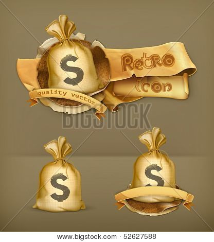 Moneybag, vector icon