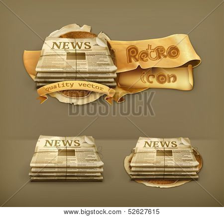 Newspaper, vector icon