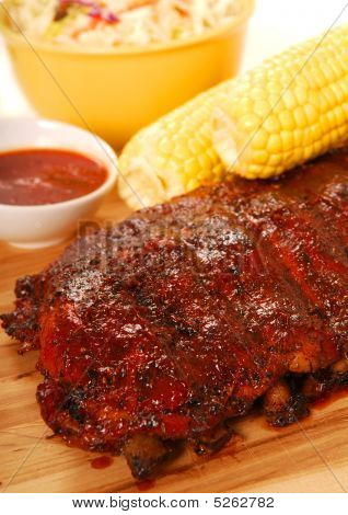 Bbq Ribs With Corn On The Cob