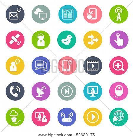 Communication icons -flat design