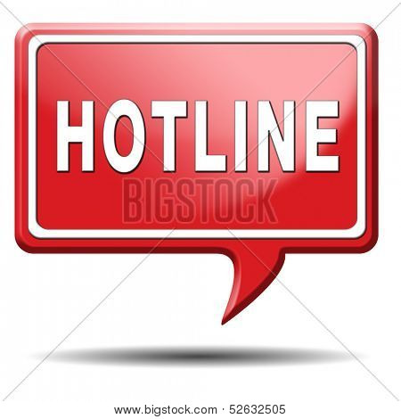 hotline icon call center or helpline sign for online customer support