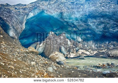 Famous glacier caves at Kverkfjoll in the highlands of Iceland used to be magical place to visit. As the ice melts they are collapsing and thus inaccessable