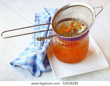 Strain It Through A Sieve Quince Jelly