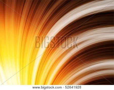 Yellow Brown Orange Waves Background On Black