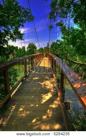 Hdr Suspension Bridge