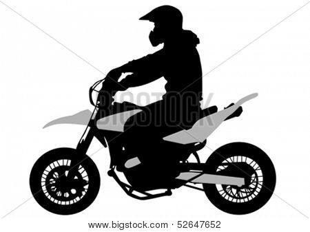 Vector image of young people on a sport bike. Property release is attached to the file