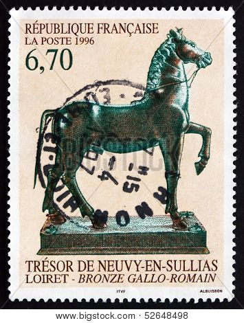 Postage Stamp France 1996 Gallo-roman Statue Of Horse