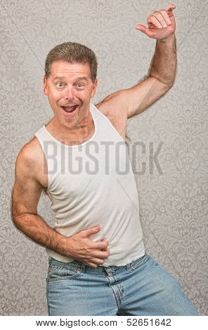 Dancing Man In Undershirt