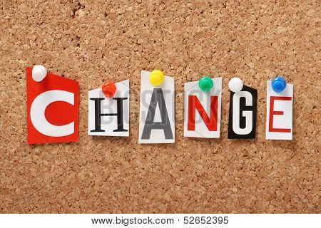 The word Change