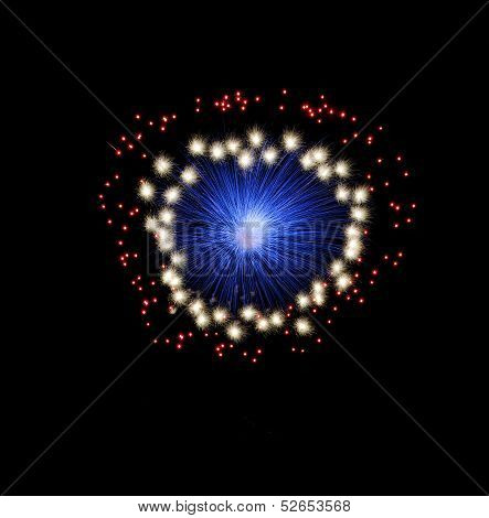 Blue and violet colorful fireworks in black background,artistic fireworks in Malta,Malta fireworks