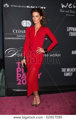 LOS ANGELES - OCT 19:  Kate Beckinsale at the 2013 Pink Party at Hanger 8 on October 19, 2013 in Santa Monica, CA