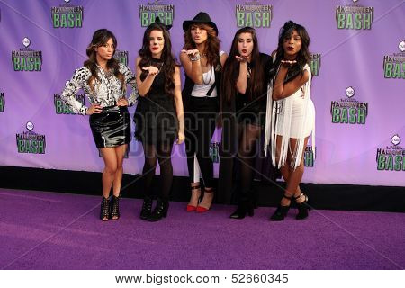 LOS ANGELES - OCT 20:  Fifth Harmony at the Hub Network First Annual Halloween Bash at Barker Hanger on October 20, 2013 in Santa Monica, CA