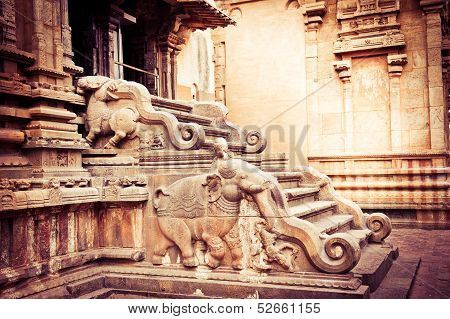 Hindu Brihadishvara Temple. South India
