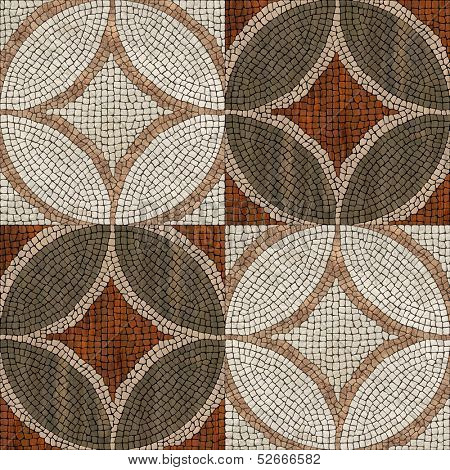 Sardis mosaic - stone/wood mosaic texture.  ( High res.)