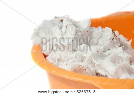Grated Coconut In The Orange Bowl