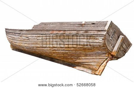 Old Wooden Rowboat