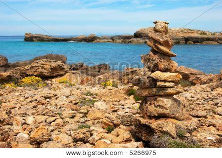 Cairn Near The Ocean