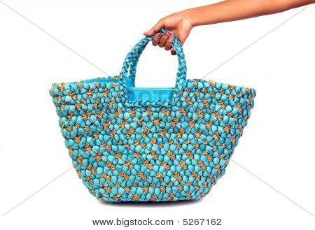 Praia saco de mão
