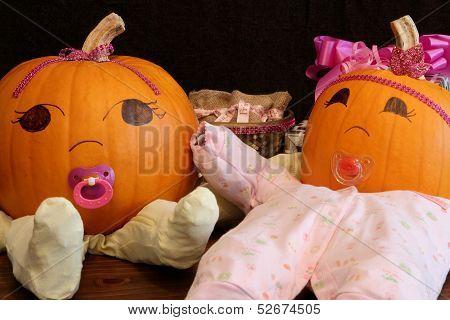 Pumpkin Babies In Onesies 2