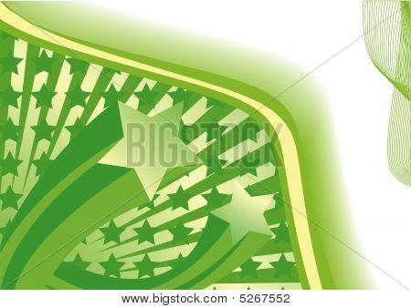 Green Abstract Stars
