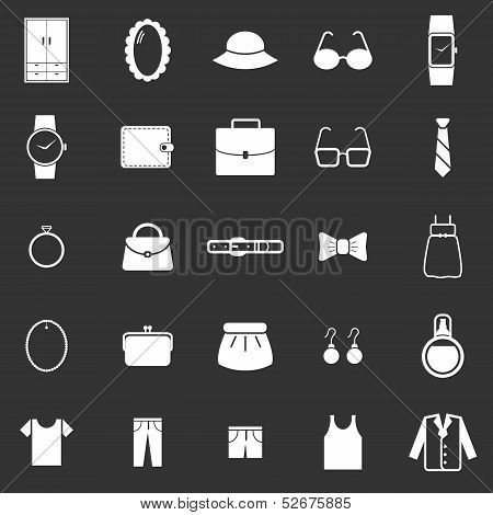 Dressing Icons On Black Background