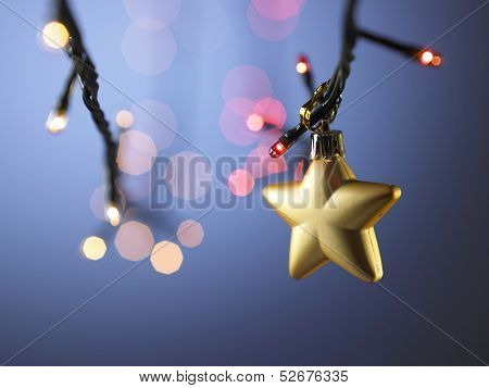 gold heart shaped christmas ornamment