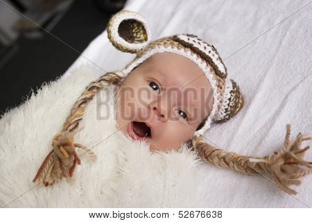 Baby In A Hat With Ears