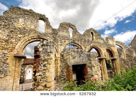 Ancient Riuns Near Canterbury Cathedral