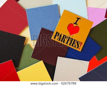 I Love Parties - Sign For An Office Party Or Celebration
