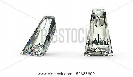 Tapered Baguette Cut Diamond