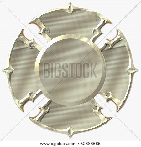 Blank Gold Maltese Cross Fire Department Emblem