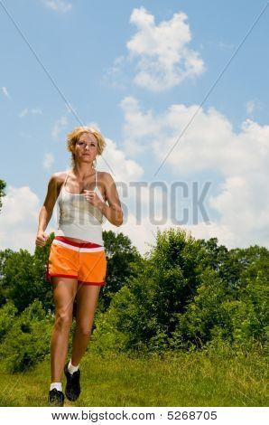 Blond Model Running