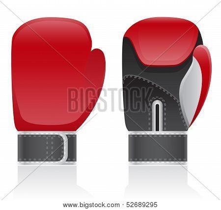 Boxing Gloves Vector Illustration