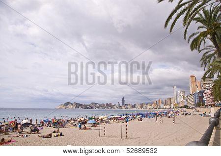 Benidorm, Spain - September 13, 2013: Beach Of Poniente